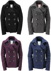 Aeropostale Wool Pea Coat Winter Jacket Xs S M L Xl Xxl Ebay