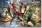 2012 MARVEL COMICS AVENGERS MURAL IRON MAN HULK CAPTAIN AMERICA 22x34 NEW POSTER