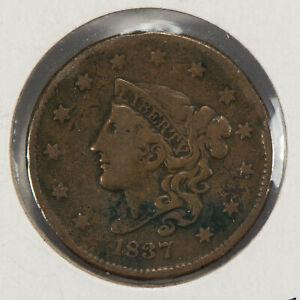 1837 1c Coronet Head Large Cent SKU-Y2540