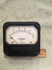 Vintage Radio Panel Meter Weston Amperes Dc 0 5 Me537
