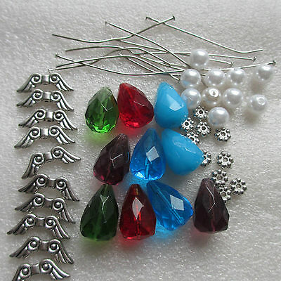 KIT FOR 10-100 LUCITE SKIRT ANGELS MAKE YOUR OWN ANGEL CHARMS ANGEL KIT