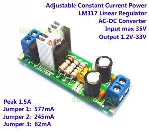lm317 ac dc step down converter 3v 35v to 3 3v 5v 12v 24v 1 5a rh ebay com