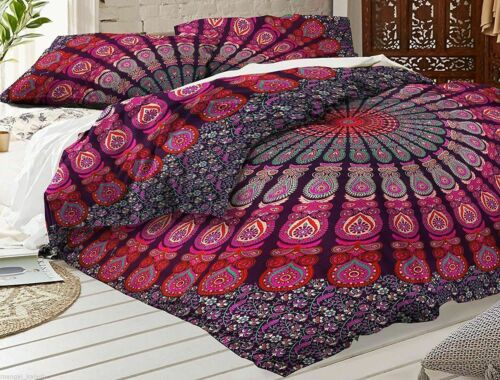 Handmade Mandala Bedding Bed Cover Indian Hippie Bedspread Tapestry Throw