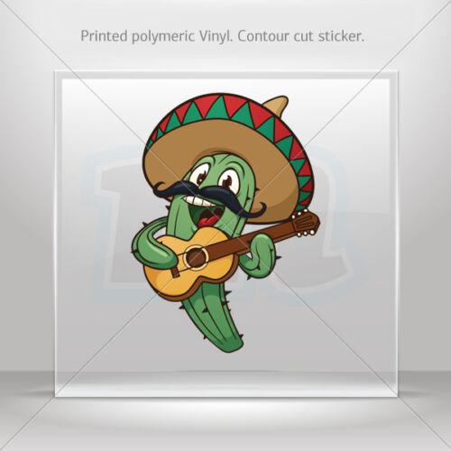 DECALS Décalcomanie mexicain Cactus avec sombrero chantant véhicule st5 XR33X