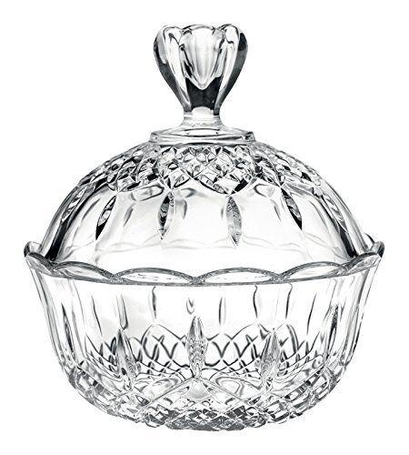 Kristall Aufbewahrungsdose Cara Dose Schale Bonbonniere  Ø 18 x H 9 cm