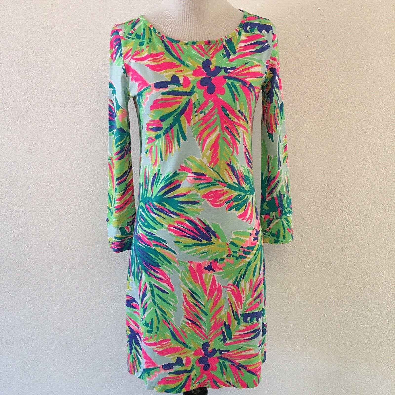 217be900f4d Lilly Pulitzer Womens 100% Cotton T Shirt Dress Long Sleeve XXS Neon ...