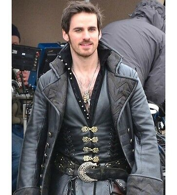 Once Upon A Time Captain Hook Costume Leather Coat