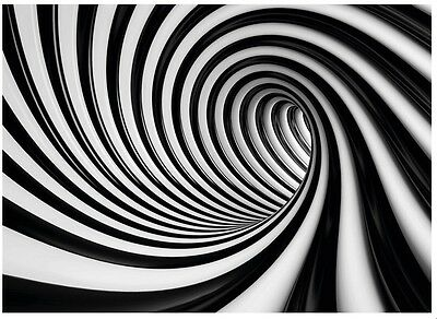 254x183cm Large Wall mural photo wallpaper Swirl black and white abstract motif