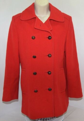 VTG Mackintosh Authentic Peacoat Red 100% Wool Wom