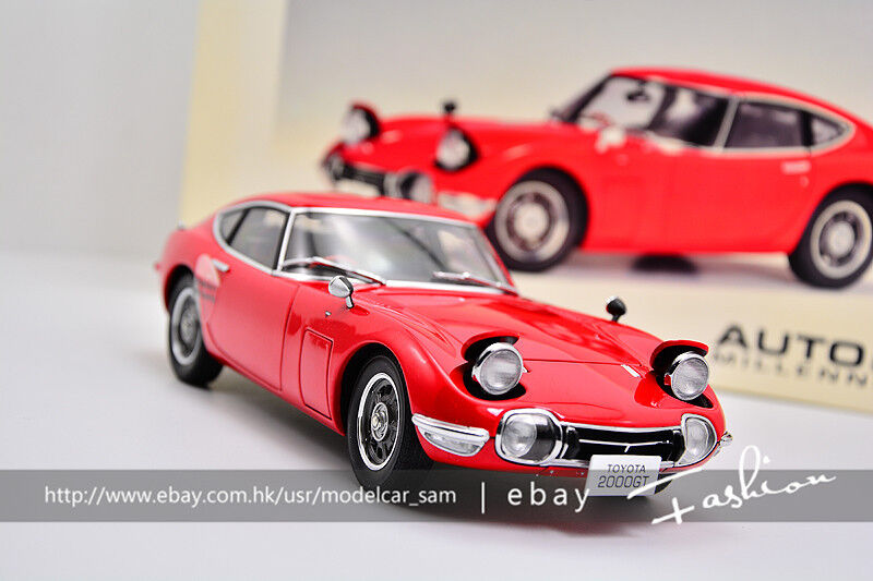 bilkonst 1 18 leksakOTA 2000 GT COUPE röd