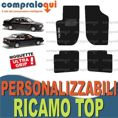 RICAMO TOP TAPPETINI PER LANCIA DELTA HF INTEGRALE MOQUETTE fondo GOMMA