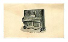 Victorian Trade Card WENTWORTH & CO PIANO FORTES Boston MA scarce