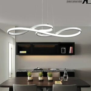 led chandelier dining room ceiling light acrylic pendant lamp rh ebay com Drum Chandelier for Dining Room Long LED Chandelier Dining Room
