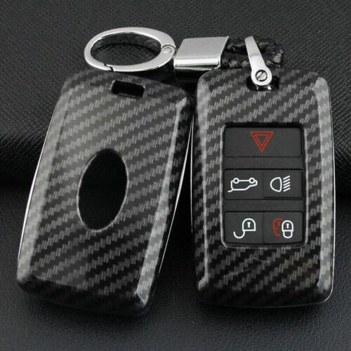 Carbon Fiber Car Hard Key Fob Cover Case Shell For Range Rover Sport Evoque
