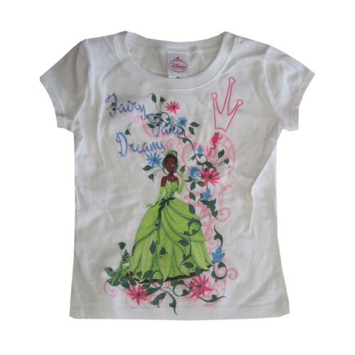 Disney Little Girls White Princess And The Frog Short Sleeved T-Shirt