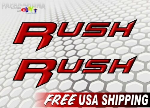"""2 RUSH Racing Decals 9/"""" Graphics Polaris Snowmobile Sled 600 800 Parts Sticker"""