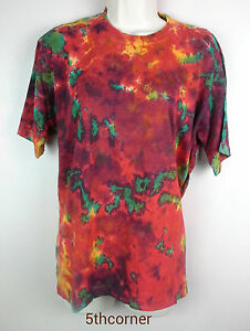 Image Is Loading Tie Dye T Shirt Top Retro Festival Hippy