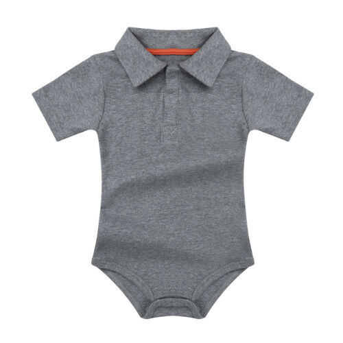 Babys One-Piece Lapel Bowtie Cotton Shirt Rompers Jupmsuits Costume Formal Cloth