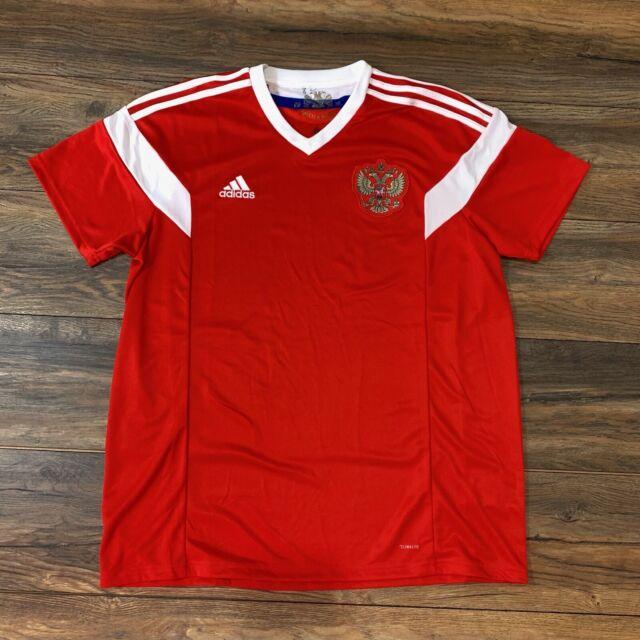 promo code e5253 01639 Auth Adidas Russia RFU World Cup 2018 Home Men Football Soccer Jersey Shirt  XL
