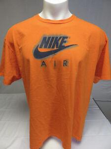 dc279f37 Image is loading NIKE-AIR-MEN-039-S-orange-tee-SHIRT-