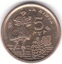 1996-España 5 pesetas Aluminio moneda de bronce-la Rioja