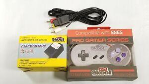 SNES AC Adaptor Power Supply + AV Cable Cord + PGS CONTROLLER (Super Nintendo)