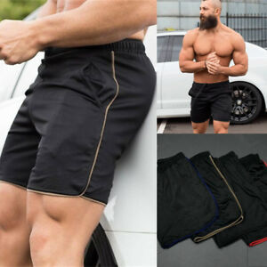482b0acd0b Image is loading USA-Men-Swim-Fitted-Shorts-Bodybuilding-Workout-Gym-
