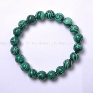 New-Fashion-6MM-Natural-Gemstone-Round-Beads-Stretchy-Bracelets