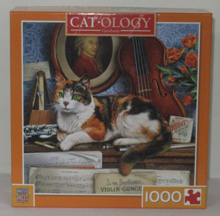 MasterPieces 1000 Piece Jigsaw Puzzle Catology GERSHWIN Calico Geoffrey Tristram