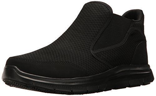 77106 Skechers Work Mens Flex Advantage Lilburne Slip Resistant shoes Black