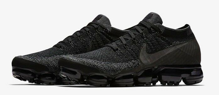 NWT Nike Men's Triple Black Air Vapormax Flyknit NikeLab Sneakers 10 AUTHENTIC best-selling model of the brand
