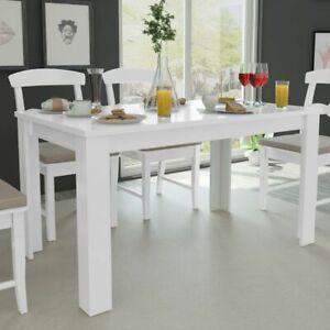 vidaXL-Eettafel-140x80x75cm-Wit-Eet-Eetkamer-Diner-Tafel-Tafels-Eetkamertafel