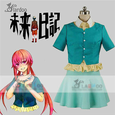 Mirai Nikki Gasai Yuno Anime Cosplay Costume Lolita Girl Daily Black Skirt