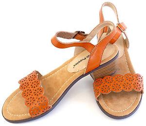 Hush-Puppies-Sandalette-36-Braun-Used-LEDERimitat-Sandale-Schuh-Weite-F-Sexy-NEU