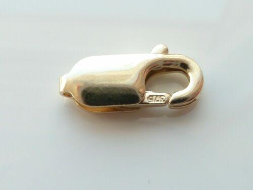 9ct Oro Amarillo garra de langosta broche Oval 7mm-Anillo Collar-hallazgos-Primavera .375