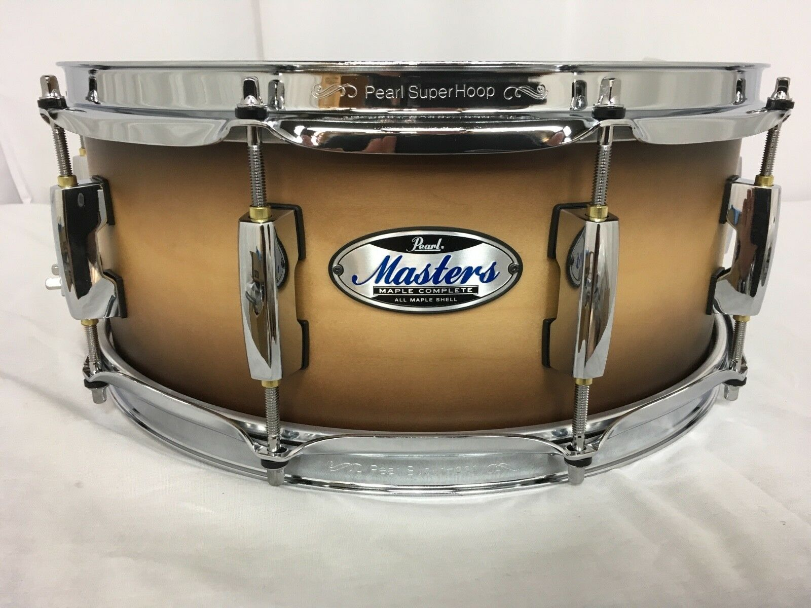 Pearl Masters Complete MCT 14  X 5.5  Snare Drum  351 Satin Natural Burst New