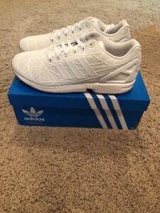 878ec5286123d Image is loading New-Adidas-ZX-Flux-Triple-White-Metallic-BB5799-