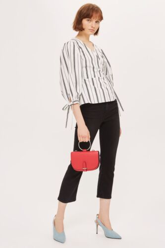 NEW  WITH TAGS  8 10 12  Topshop Stripe Balloon Sleeve Top