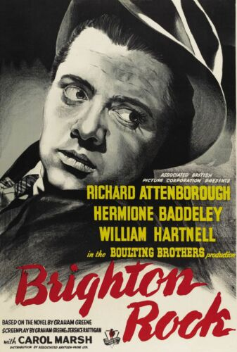 "/""BRIGHTON ROCK/"" ..Richard Attenborough.. Classic Movie Poster A1 A2 A3 A4Sizes"