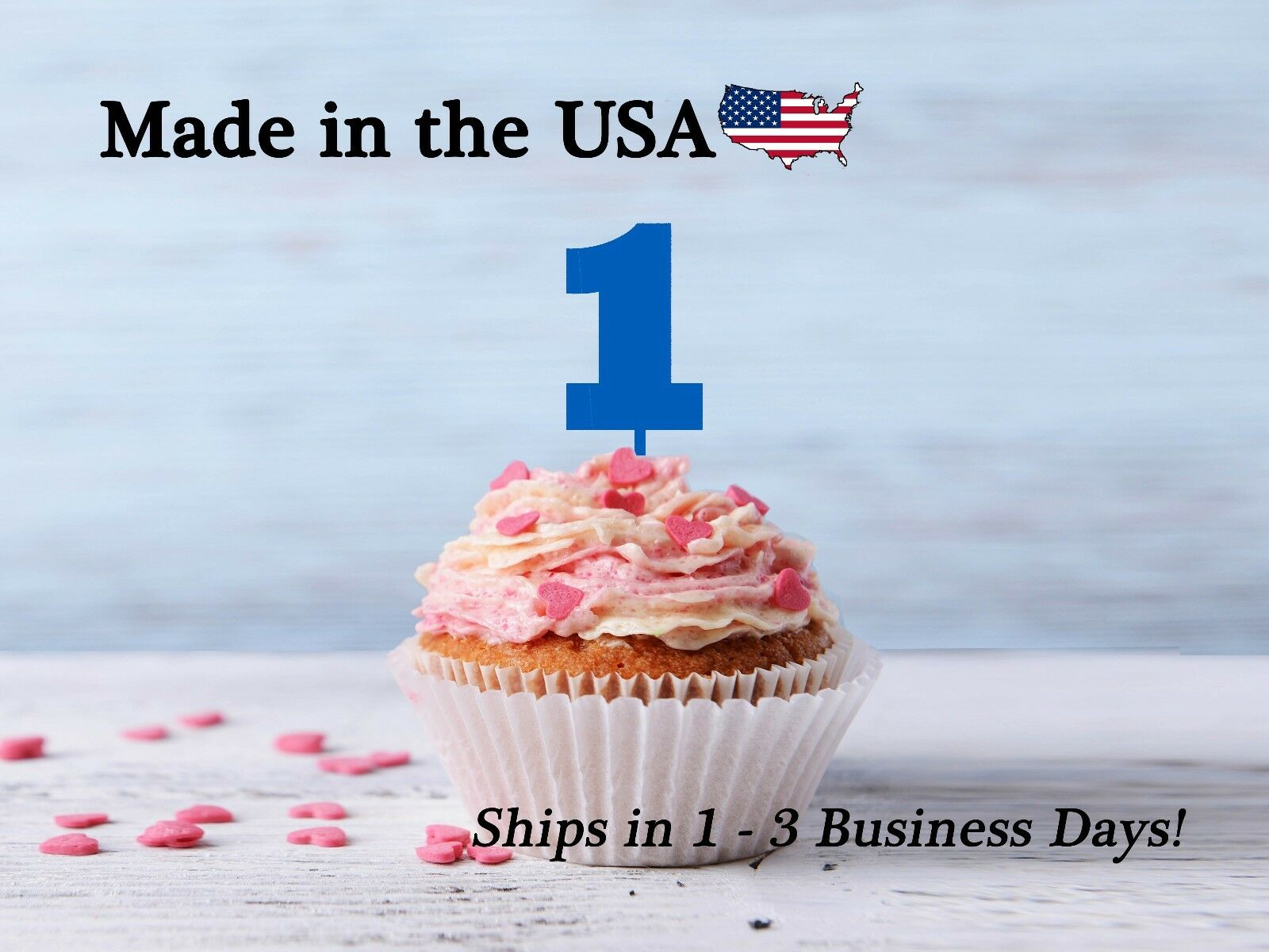Single Number Cupcake Toppers, Acrylic, Number Topper, Birthday Party, LCT1006