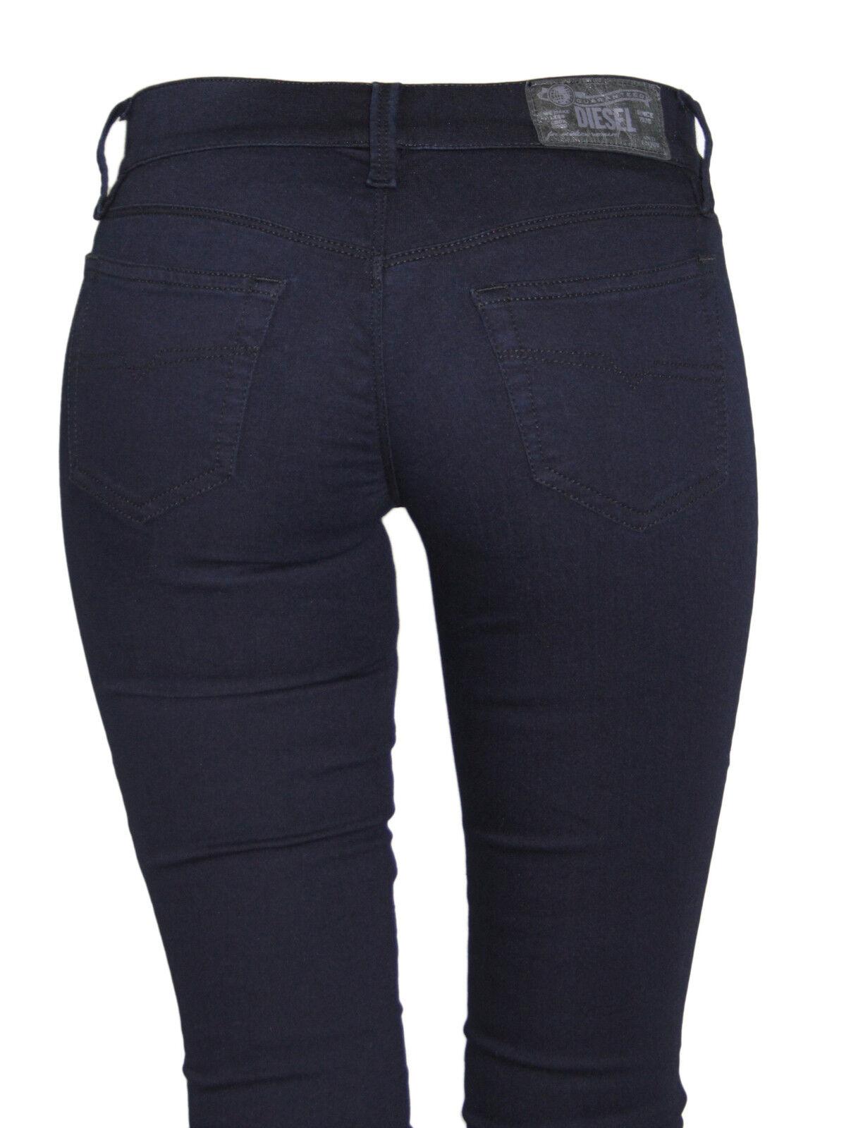 NWT DIESEL Women's RIDEE 881B Moto Biker Pants Stretchy Skinny Legging Jeans