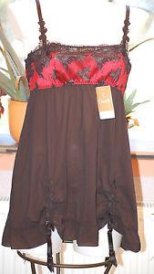 nera 6196 rossa Babydoll giarrettiera Neglige Couture con Haute Chantelle wqB4H0E