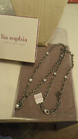 Pretty Lia Sophia ingenue Antique Silver Necklace 36-39 Retired S/s 2012