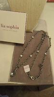 Pretty Lia Sophia ingenue Antique Silver Necklace 36-39 Retired S/s 2012