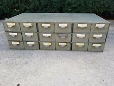 Vintage Industrial Lyon Steel Metal 18 Drawer Parts Organizer Cabinet Bin
