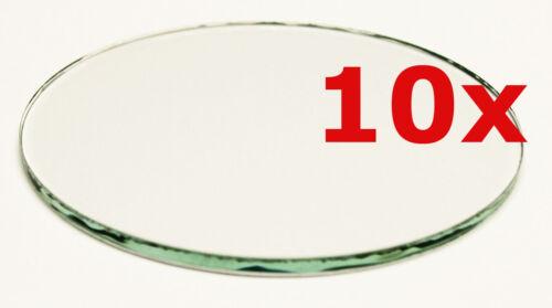 10 Stück Glasscheibe 3mm rund Kreis 110mm klar zum Basteln Bauen Werken usw