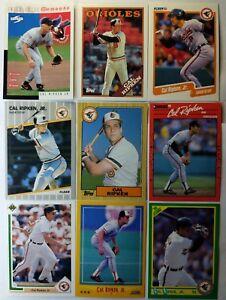 "Cal Ripken Jr lot of 9 different Vintage Cards! Baltimore Orioles HOF ""Iron Man"""