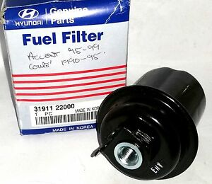 genuine hyundai accent coupe fuel filter 3191122000 | ebay 2007 accent fuel filter