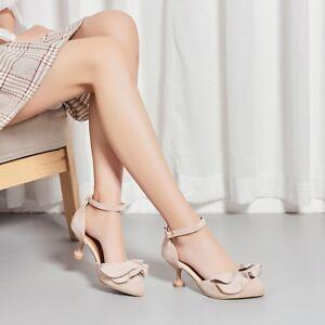 c08e2007bed Women Ankle Strap Kitten Heels Peep Toe Pumps Suede Fashion Sandals ...