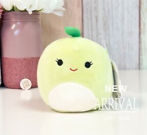 "SALE* KellyToy Squishmallow 5"" Ashley the Green Apple NEW Fruit Squad Plush HTF"